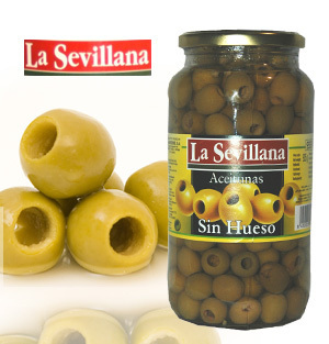 Pitted Green Olives LA SEVILLANA