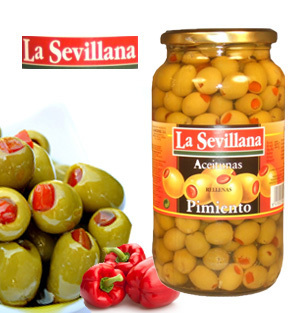 Olives LA SEVILLANA Red Pepper Stuffed