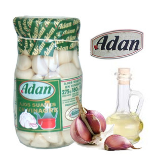 Soft Garlics in Vinegar ADAN 370 ml