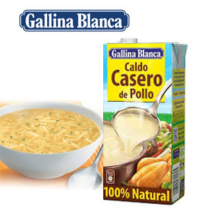 Homemade chicken broth GALLINA BLANCA 1 L.