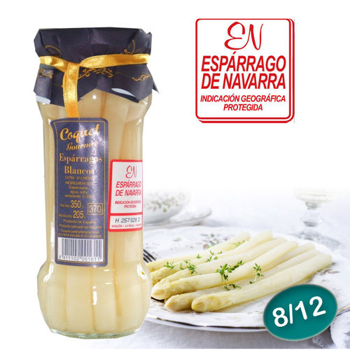 White Navarra Asparagus COQUET Gourmet 8/12 units Medium