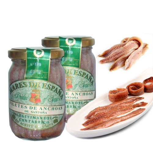 Anchovy fillets in Olive Oil MARES DE ESPAÑA 230 G