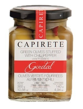 Olives vertes CAPIRETE Farcies aux Piment chili