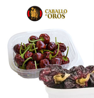 Hot chilli peppers CABALLO DE OROS 45 Gr.