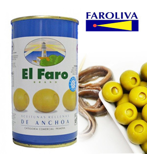 Olives EL FARO Stuffed with Anchovies