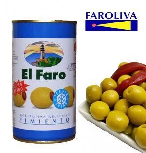 Olives EL FARO Stuffed with roasted red pepper