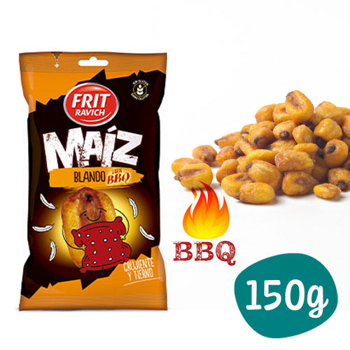 Roasted and Salted Corn BBQ Flavor FRIT RAVICH 150 Gr. (SOFT)