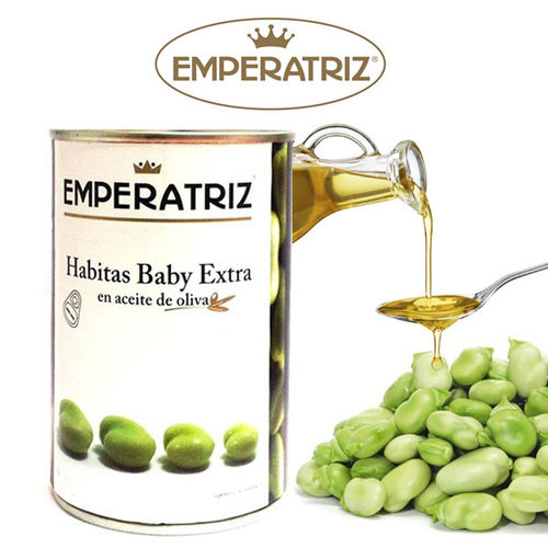 Baby beans in olive oil EMPERATRIZ  425 ML