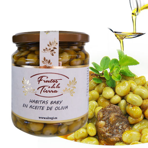 Baby beans in olive oil FRUTOS DE LA TIERRA  370 ML