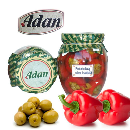 Baby pepper stuffed with green olives ADAN 314 ML