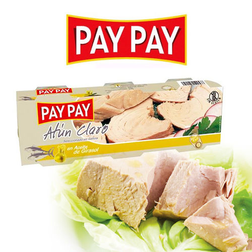 Thon à l'huile de tournesol PAY PAY 80 G PACK 3U.