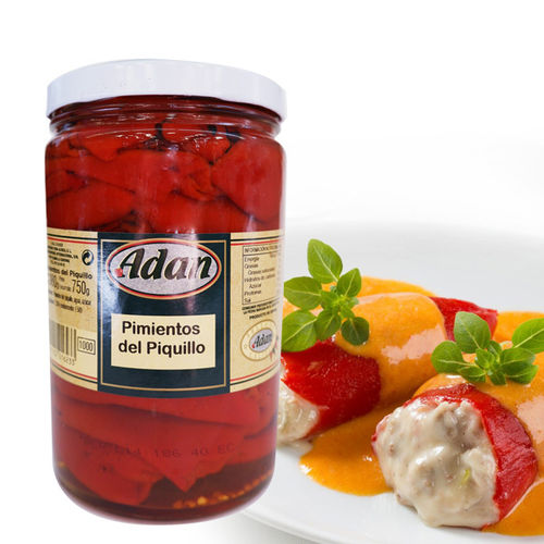 Whole piquillo peppers ADAN 1000 ML
