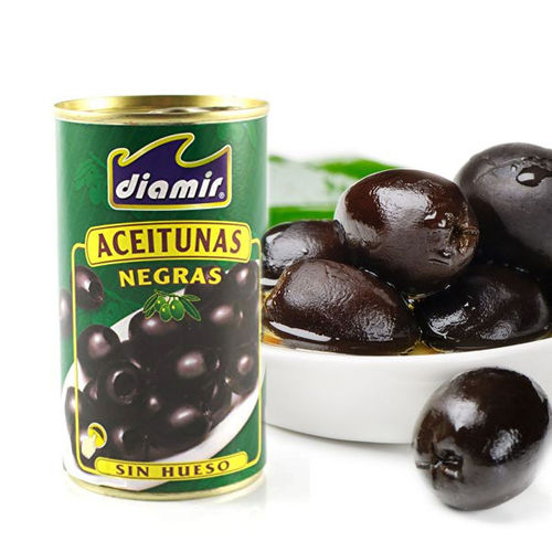 BLACK OLIVES WITHOUT BONE DIAMIR 150G.