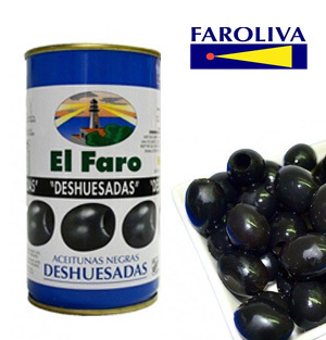 Black olives without bone EL FARO 370ml