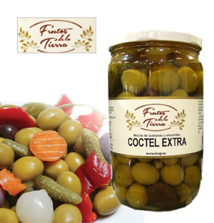 Cocktail of olives and pickles FRUTOS DE LA TIERRA 730GR