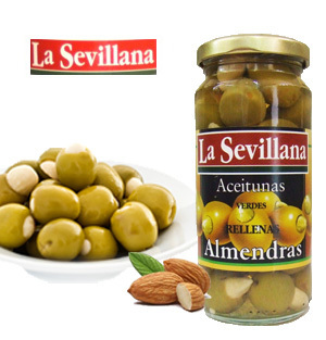 Olives stuffed with almonds LA SEVILLANA 240 ML