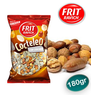 Cocktail Frutos Secos tostados con Cascara FRIT RAVICH 180 Gr.