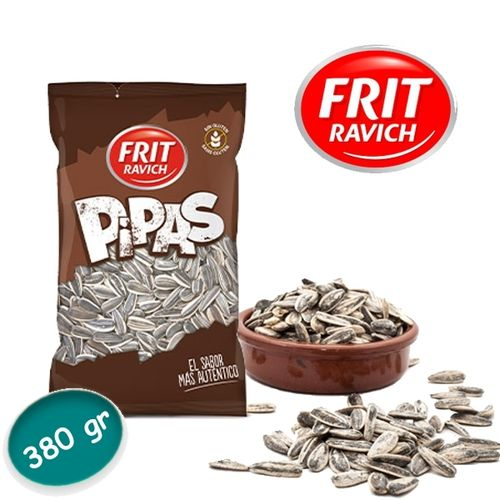 Pipas - Roasted sunflower seeds FRIT RAVICH 380 Gr.