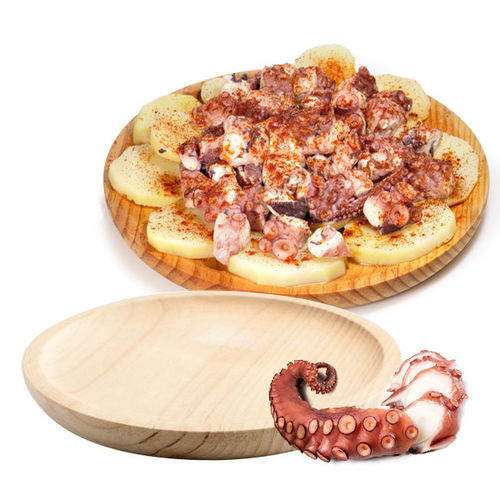 WOODEN DISH FOR OCTOPUS  22 cm