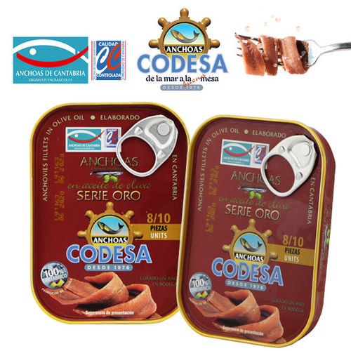 Anchovies in Olive Oil  Fillet CANTABRICO CODESA ORO 55 GR