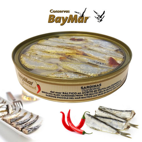 Sardinillas in olive oil with Chilli Pepper BAYMAR GOURMET RO-120