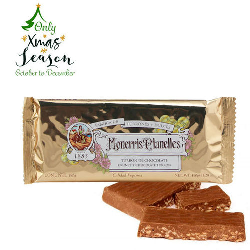 TURRON CHOCOLATE MONERRIS  150 GR
