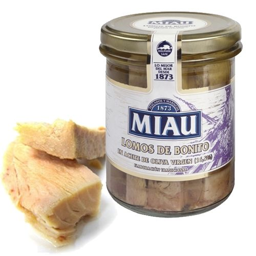 White Tuna Loins in Olive Oil MIAU 315 Gr.