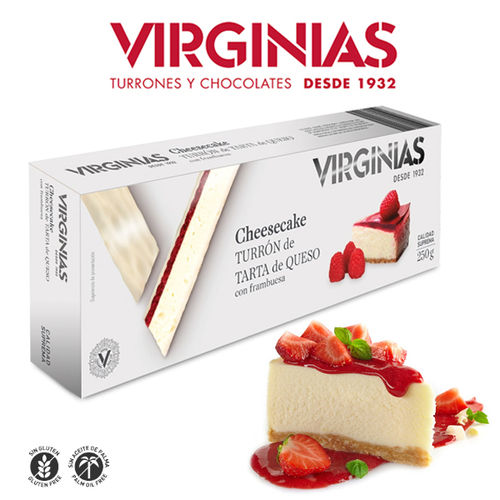 Turrón CHEESE CAKE VIRGINIAS 300 Gr.