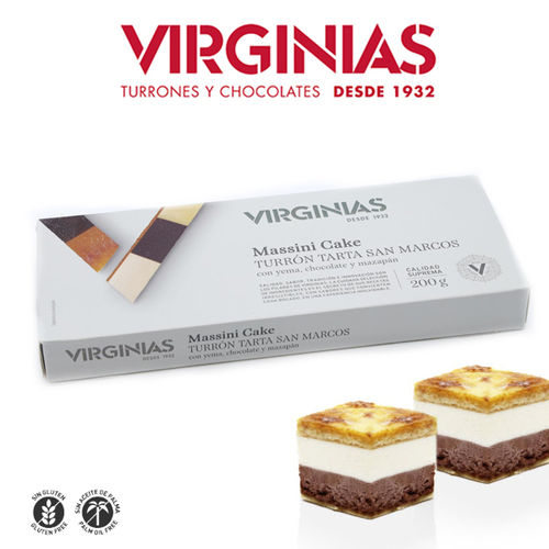 Turrón MASSINI CAKE VIRGINIAS 200 Gr.