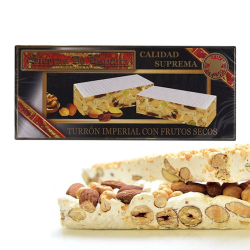 Turrón Hard Nougat with assorted nuts SIERRAS DE ESPAÑA  200 GR