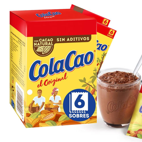 Cocoa powder COLA CAO ORIGINAL CASE 6 ENVELOPES 10 Gr. x 6 Un.