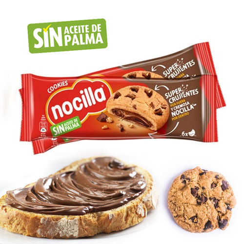 COOKIES FILLED WITH NOCILLA 120 G.
