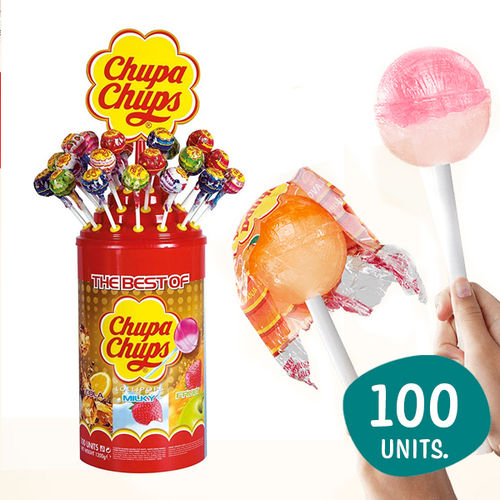 """Chupa chups"" assorted flavors 100 Units"